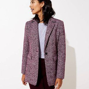 NWT Ann Taylor Women's Tweed Long Modern Blazer